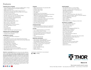 2018 Thor Miramar Brochure page 4