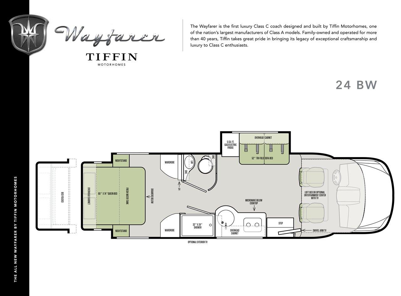 2018 Tiffin Wayfarer Floorplan Brochure Download Rv Brochures
