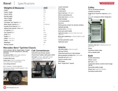 2018 Winnebago Revel Brochure page 15