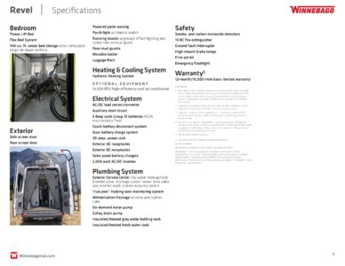 2018 Winnebago Revel Brochure page 16