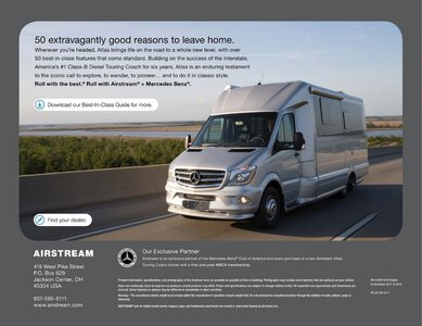 2019 Airstream Atlas Touring Coach Brochure page 30