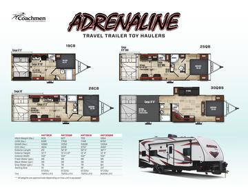 2019 Coachmen Adrenaline Brochure