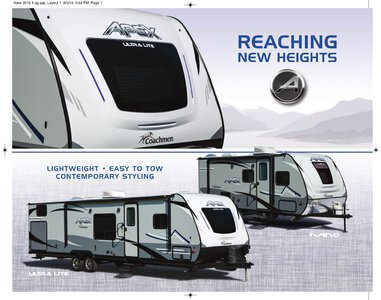 2019 Coachmen Apex Brochure page 1