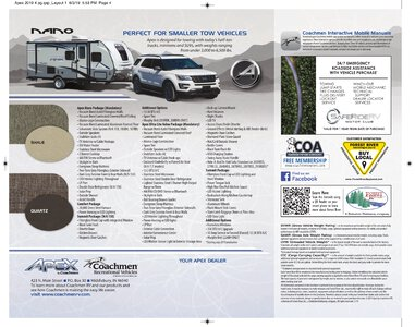 2019 Coachmen Apex Brochure page 4