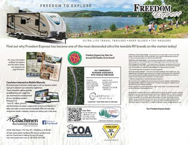 2019 Coachmen Freedom Express Brochure page 12