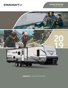 2019 Starcraft Launch Outfitter Travel Trailer Brochure page 1