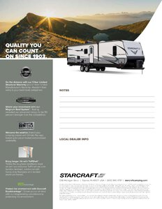 2019 Starcraft Launch Outfitter Travel Trailer Brochure page 4