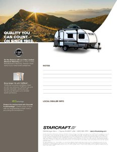 2019 Starcraft Satellite Travel Trailer Brochure page 4