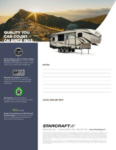 2019 Starcraft Telluride Fifth Wheel Brochure page 4