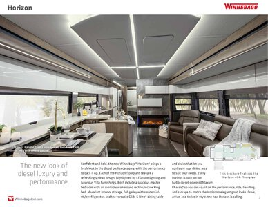 2019 Winnebago Horizon Brochure page 2
