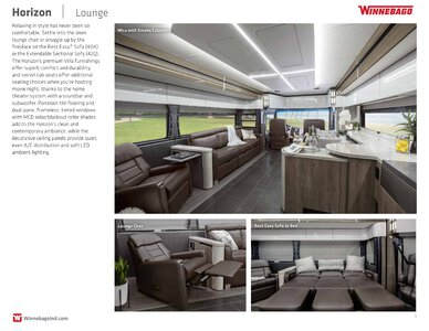 2019 Winnebago Horizon Brochure page 3