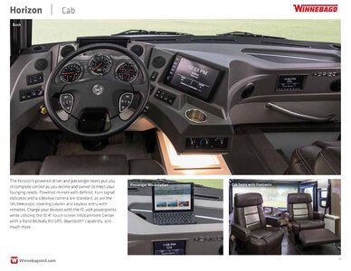 2019 Winnebago Horizon Brochure page 6