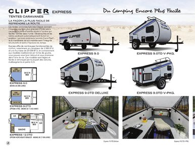 2020 Coachmen Clipper Camping Trailers French Brochure page 2