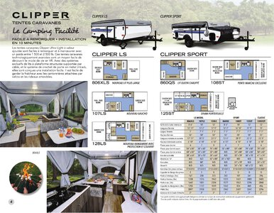 2020 Coachmen Clipper Camping Trailers French Brochure page 4