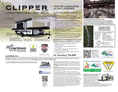 2020 Coachmen Clipper Camping Trailers French Brochure page 8