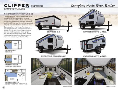 2020 Coachmen Clipper Camping Trailers Brochure page 2