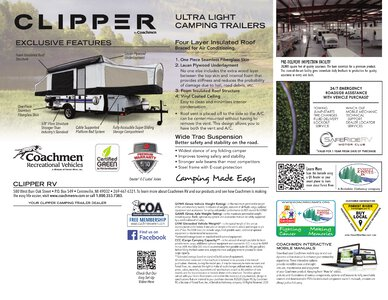 2020 Coachmen Clipper Camping Trailers Brochure page 8