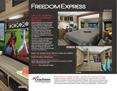 2020 Coachmen Freedom Express Brochure page 3