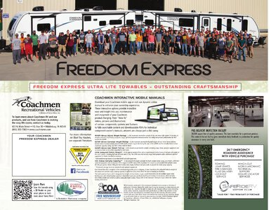 2020 Coachmen Freedom Express Brochure page 12