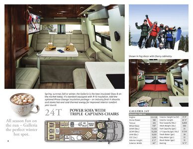 2020 Coachmen Galleria Brochure page 8
