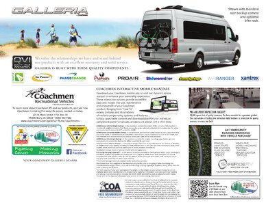 2020 Coachmen Galleria Brochure page 12