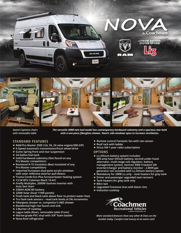 2020 Coachmen Nova Brochure