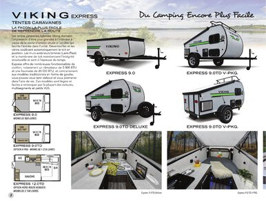 2020 Coachmen Viking Camping Trailers French Brochure page 2