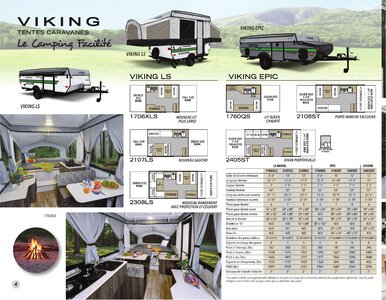 2020 Coachmen Viking Camping Trailers French Brochure page 4