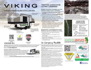 2020 Coachmen Viking Camping Trailers French Brochure page 8