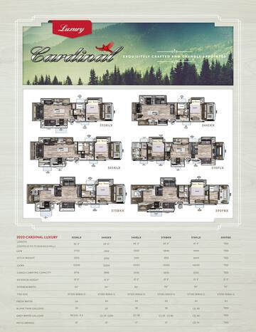 2020 Forest River Cardinal Luxury Brochure