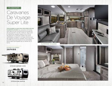 2020 Forest River Flagstaff Travel Trailers French Brochure page 12