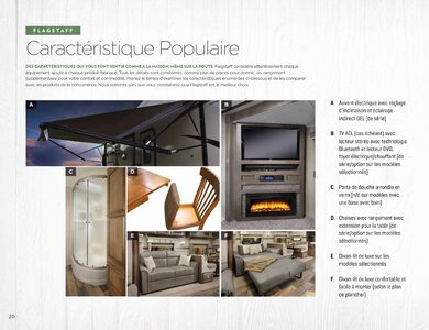 2020 Forest River Flagstaff Travel Trailers French Brochure page 20
