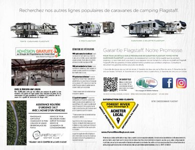 2020 Forest River Flagstaff Travel Trailers French Brochure page 24