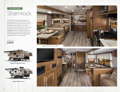 2020 Forest River Flagstaff Travel Trailers Brochure page 4