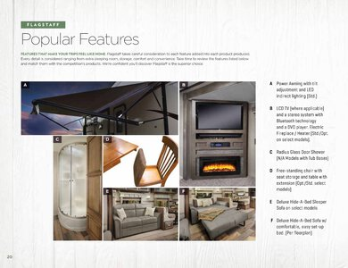 2020 Forest River Flagstaff Travel Trailers Brochure page 20