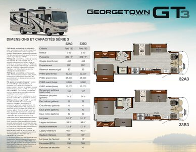 2020 Forest River Georgetown 3 Series GT3 French Brochure page 1