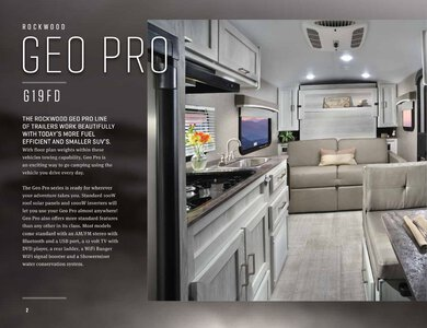 2020 Forest River Rockwood Geo Pro Brochure page 2