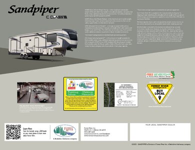 2020 Forest River Sandpiper C Class Brochure page 12