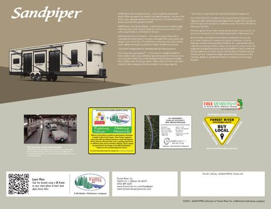2020 Forest River Sandpiper Destination Brochure page 12