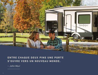 2020 Forest River Sandpiper Fifth Wheels French Brochure page 2