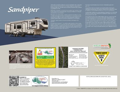 2020 Forest River Sandpiper Fifth Wheels French Brochure page 20