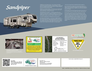 2020 Forest River Sandpiper Fifth Wheels Brochure page 20
