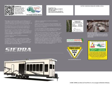 2020 Forest River Sierra Destination French Brochure page 12