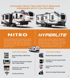 2020 Forest River XLR Hyper Lite Brochure page 3