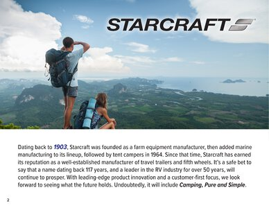 2020 Starcraft Telluride Fifth Wheel Brochure page 2