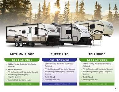 2020 Starcraft Telluride Fifth Wheel Brochure page 3