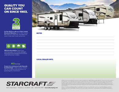 2020 Starcraft Telluride Fifth Wheel Brochure page 10