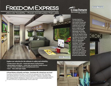 2021 Coachmen Freedom Express Brochure page 2
