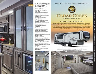 2021 Forest River Cedar Creek Champagne French Brochure page 3