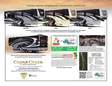 2021 Forest River Cedar Creek Champagne French Brochure page 8